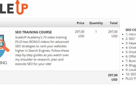 价值297美金的国外最新SEO教程:ScaleUp Academy SEO Course