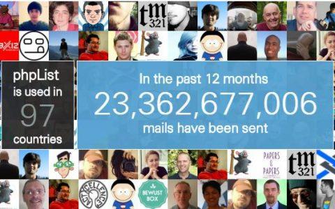 PHPlist是个不错的邮件发送工具