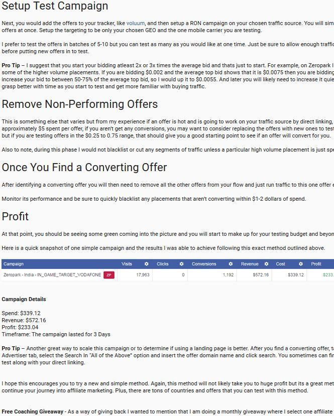 采用直链Direct Linking跑offer也可以盈利
