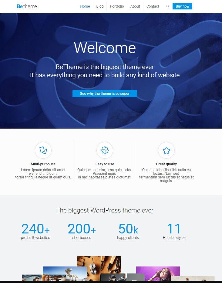 Wordpress收费主题betheme 17.2
