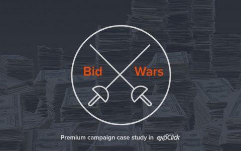 竞价之战 EXO 案例分析 Bid Wars – A Premium Campaign Case Study On Exoclick