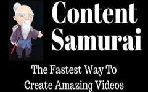 如何快速用Content samurai制作一个高大上的视频