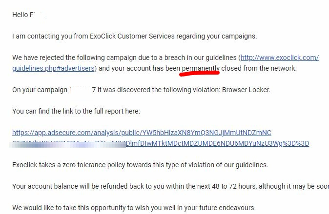 Exoclick账号解封经历