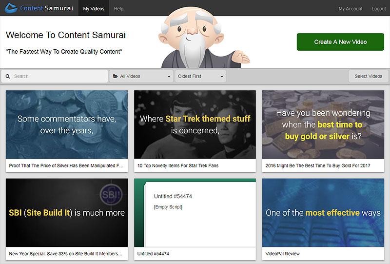 视频制作工具 Content Samurai 不用出镜快速制作YouTube视频赚钱