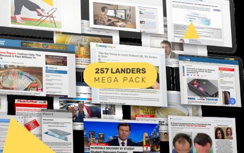 2019年AdPlexity官方推出的250+个Landers着陆页(代码干净拿来即用)