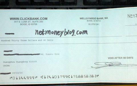 十年前的一张clickbank支票