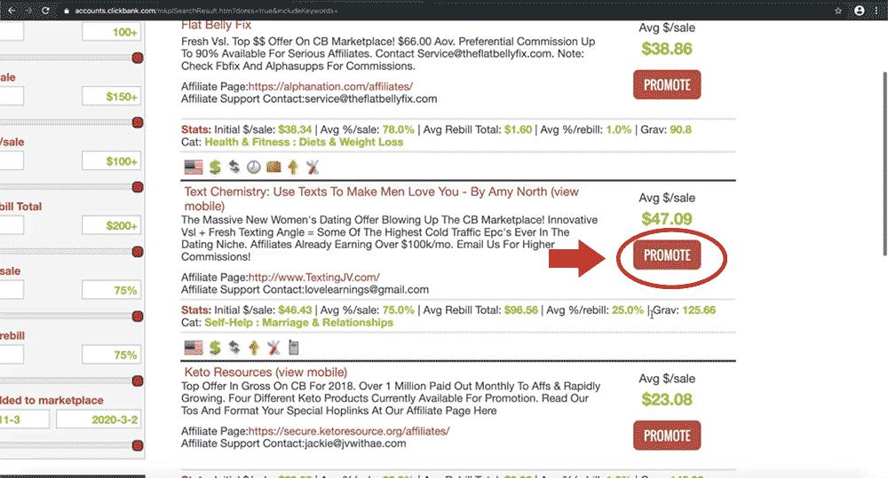 通过网红推广ClickBank产品的方法