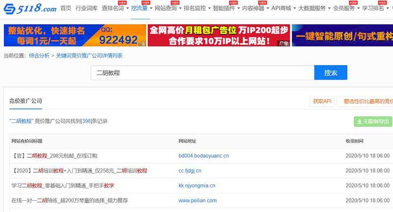 5118.com关键词竞价