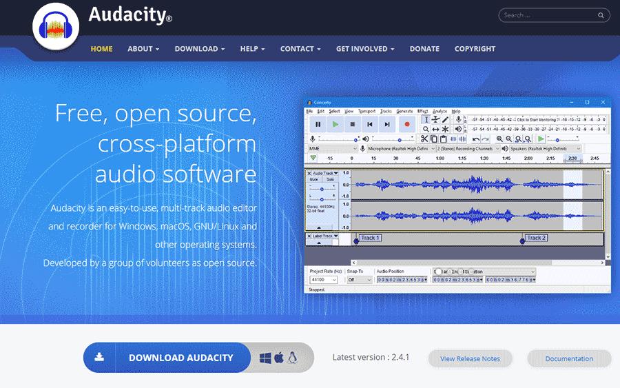 audacity音频处理软件