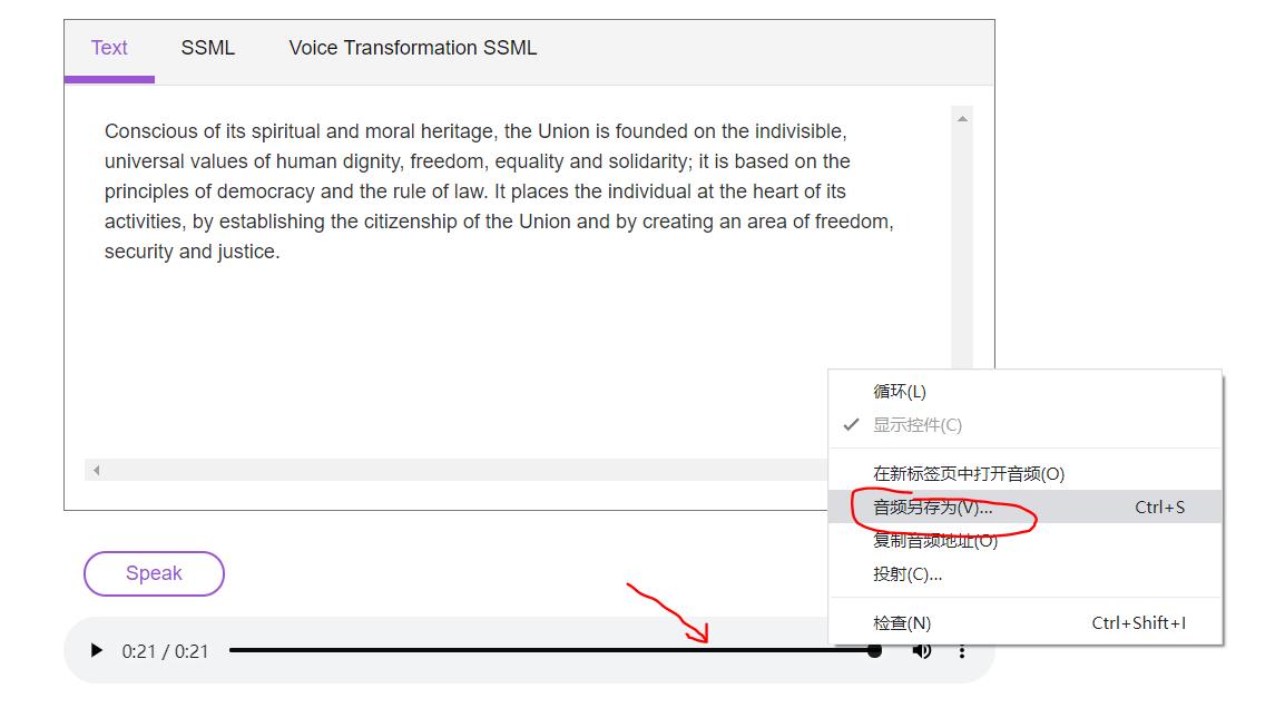 免费逼真的文字转语音工具,为Youtube视频配音效果不错