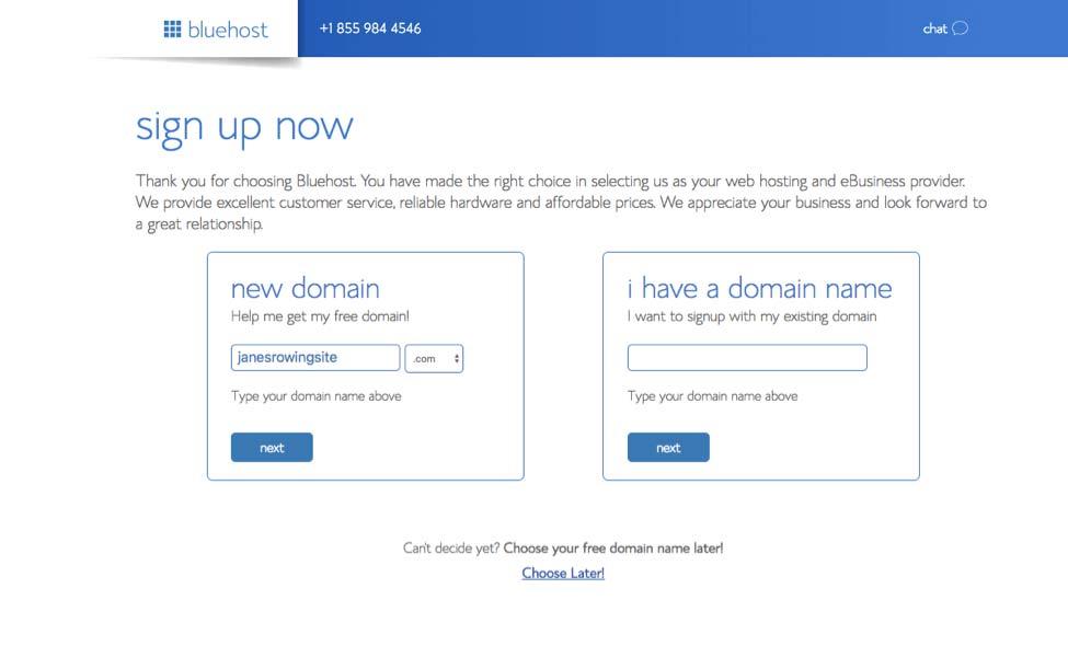 bluehost注册域名