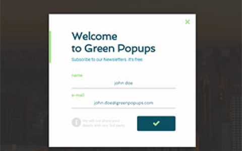 WordPress弹窗插件:Green Popups