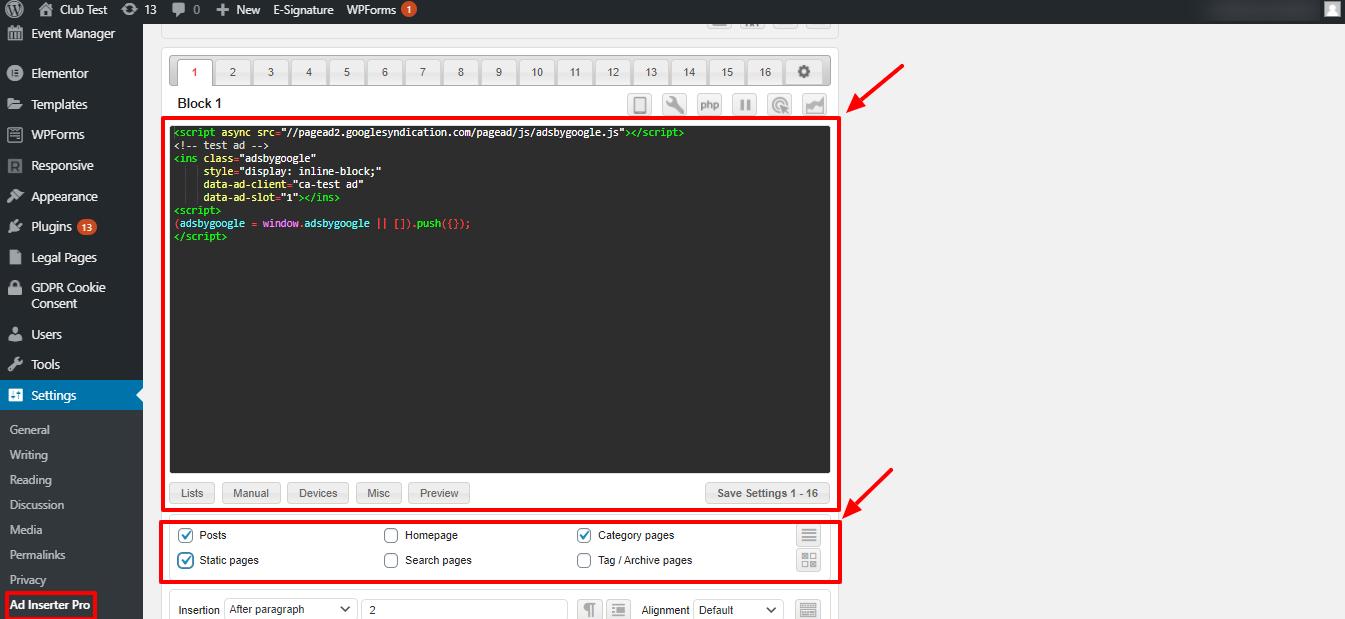 WordPress广告管理插件:Ad Inserter Pro