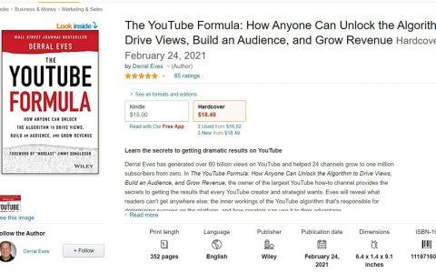 好书分享:《油管公式》 (YouTube Formula)